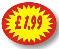 Price Point Promotional - £1.99 - Label