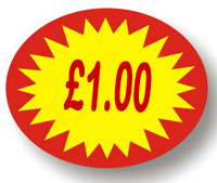 Price Point Promotional - £1.00 - Label