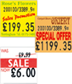 Price Gun Point of Sale Labels